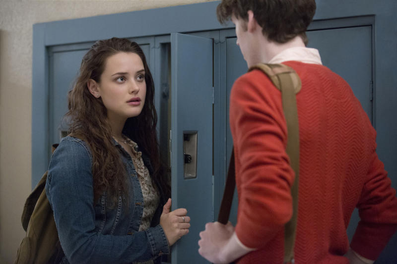 Katherine Langford, Devin Druid in <i>13 Reasons Why</i> S2 (Netflix)
