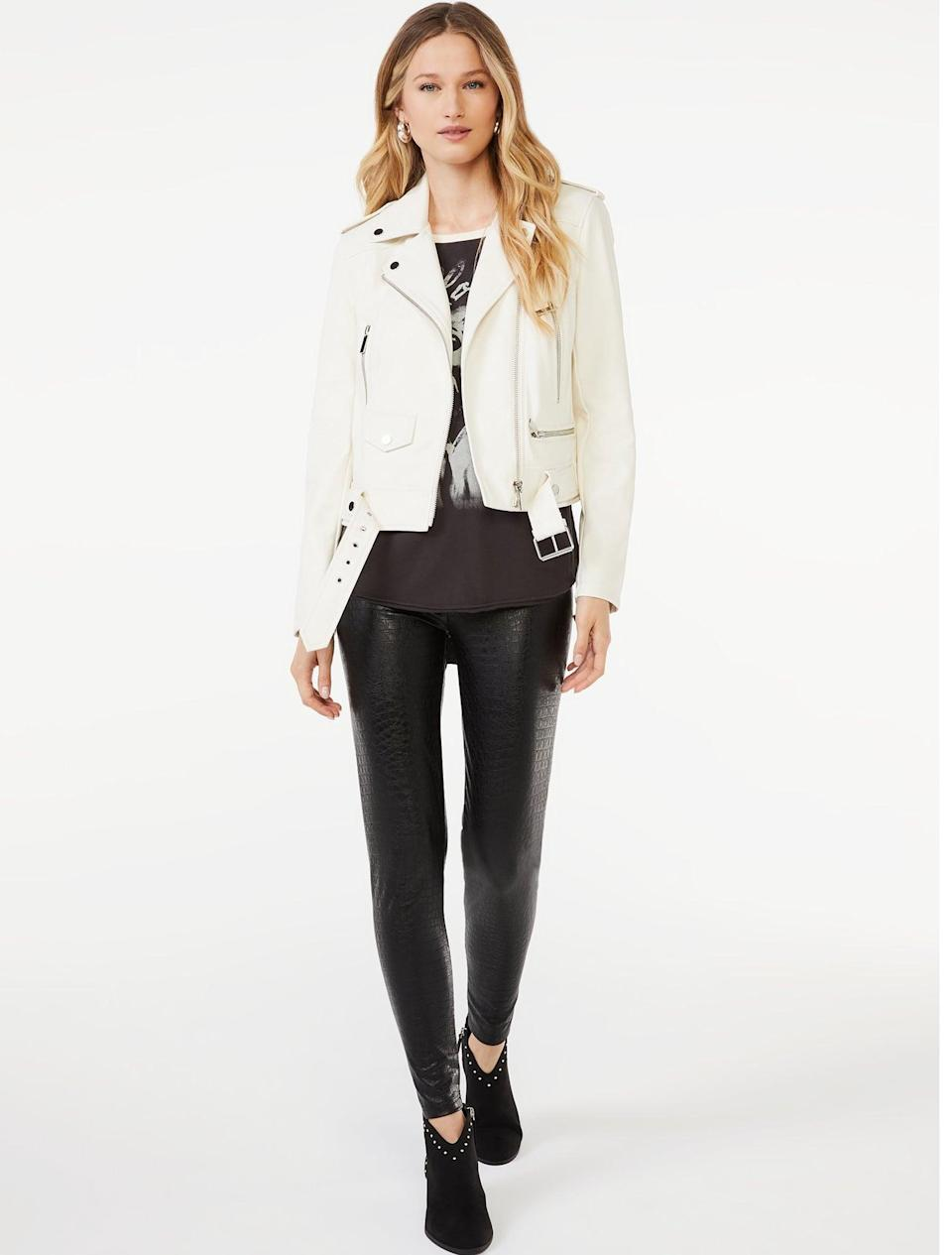 <p>Leggings are a must-have in your fall wardrobe, especially ones that will take your outfit to the next level. Enter the <span>Scoop Women's Faux Leather Embossed Croc Leggings</span> ($22) that <em>look </em>crazy expensive but aren't.</p>