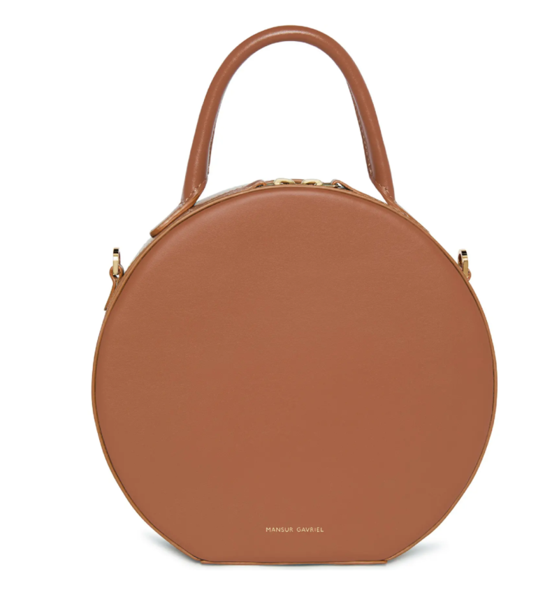 Mansur Gavriel Leather Circle Crossbody Bag. Image via Nordstrom.