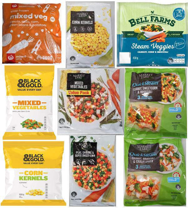Frozen vegetables recalled from Aussie supermarkets over contamination fears