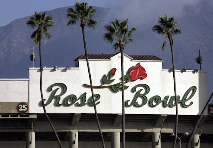 Exterior of the Rose Bowl.