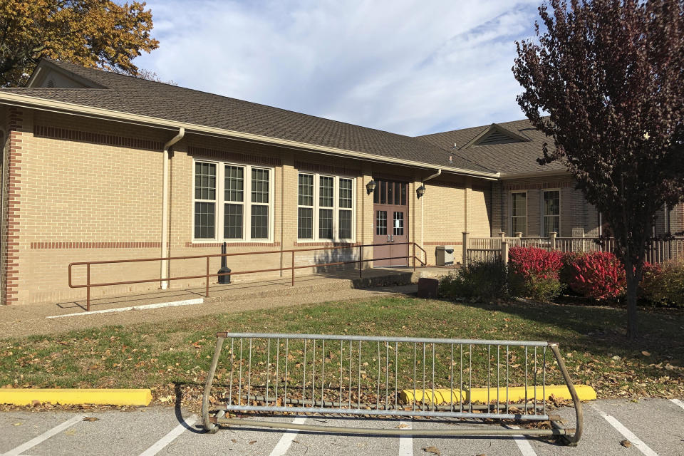 The Blanchette Park Memorial Hall in St. Charles, Missouri where the infected election judge worked on Tuesday.