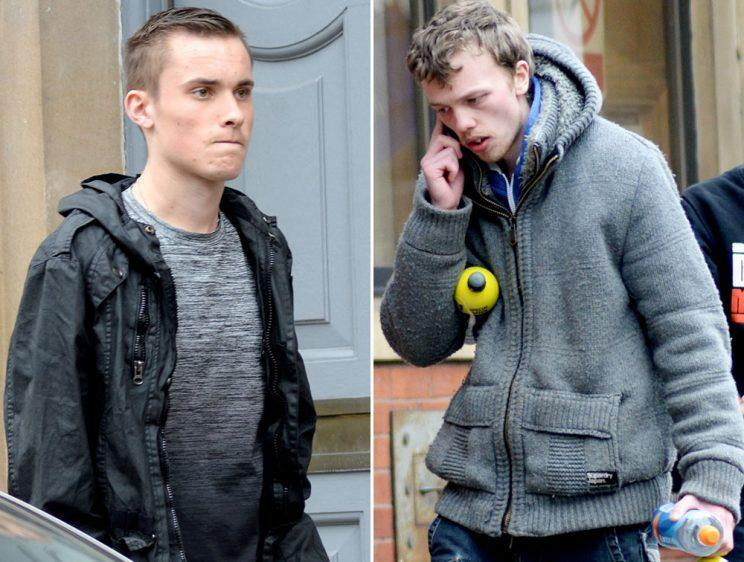 Tyron Cotterill, 19, left, has admitted motoring offences related to the spree. Lewis Watts, 21, right, has admitted six counts of criminal damage (SWNS)