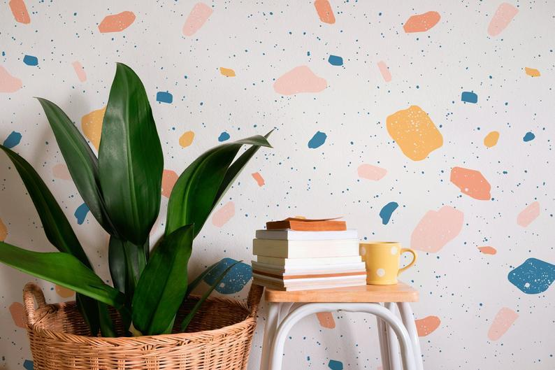 """If you're looking for one-of-a-kind, handcrafted wallpaper, wall art, <strong>or</strong> wall stickers, Etsy's got you covered. This abstract watercolor peel-and-stick wallpaper is perfect for renters who can't make permanent changes to the walls but still want to live in glorious color. $56, Etsy. <a href=""""https://www.etsy.com/listing/785927070/abstract-watercolor-wallpaper-removable?ref=shop_home_active_6&pro=1&frs=1"""" rel=""""nofollow noopener"""" target=""""_blank"""" data-ylk=""""slk:Get it now!"""" class=""""link rapid-noclick-resp"""">Get it now!</a>"""
