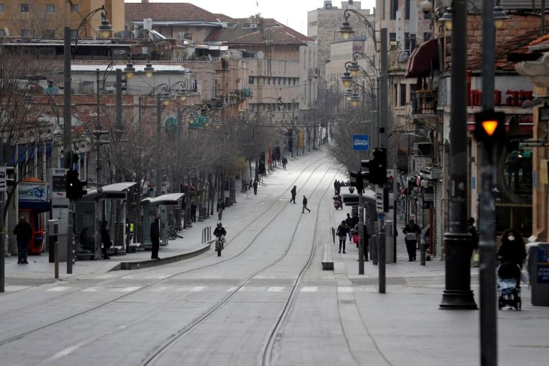 FILE PHOTO: A general view of a usually busy street is seen as Israel tightened a national stay-at-home policy following the spread of coronavirus disease (COVID-19) in Jerusalem