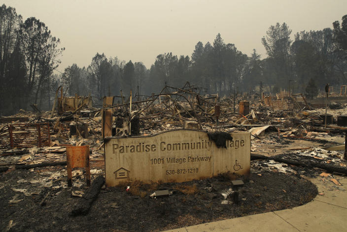 The scorched remnants of Paradise, California. (John Locher/THE ASSOCIATED PRESS)