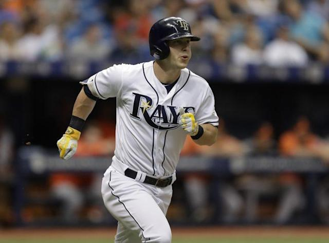 Corey Dickerson is making a charge at the AL DH spot. (AP)