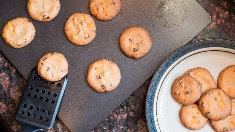 Baking sheets and cooling racks are holiday baking essentials.