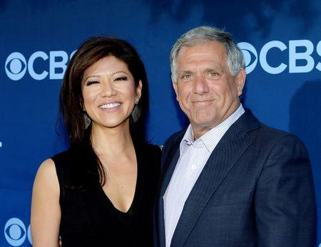 "FILE PHOTO: Les Moonves president and CEO of CBS Corporation and his wife Julie Chen pose during the premiere of the CBS science fiction television series ""Extant"" in Los Angeles"