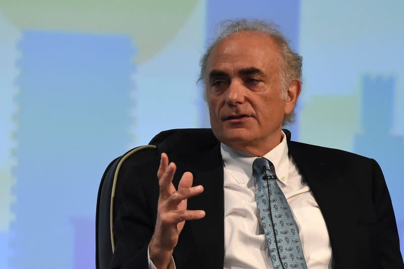 FILE PHOTO: Calin Rovinescu, CEO of Air Canada speaks during a panel discussion on Cyber Security at the 2016 International Air Transport Association (IATA) Annual General Meeting (AGM) and World Air Transport Summit in Dublin