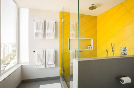 The Case For Adding Color To Your Boring Bathroom Yellow Tile Bathroom  Paint Colors