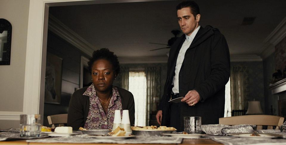"""Once again, Davis proves there are no small roles with her supporting turn in <strong>Denis Villeneuve</strong>'s 2013 psychological thriller, starring <strong>Hugh Jackman</strong> and <strong>Jake Gyllenhaal.</strong> Davis makes her presence felt as Nancy Birch, the mother of a missing daughter who is racked with guilt and determined to get her child back by any means necessary. <a href=""""https://www.youtube.com/watch?v=E0fCamItqVk"""" rel=""""nofollow noopener"""" target=""""_blank"""" data-ylk=""""slk:In a pivotal moment"""" class=""""link rapid-noclick-resp"""">In a pivotal moment</a>, Davis accesses her innate vulnerability in an attempt to connect with her daughter's supposed captor, leaving both her character and the audience in disbelief."""