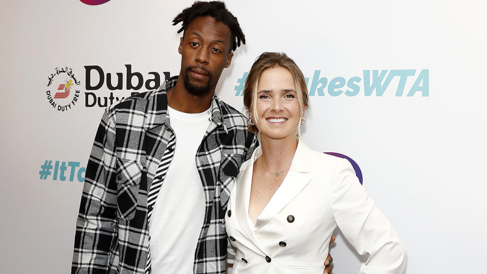 Gael Monfils and Elina Svitolina, pictured here at the Dubai Duty Free WTA Summer Party in 2019.
