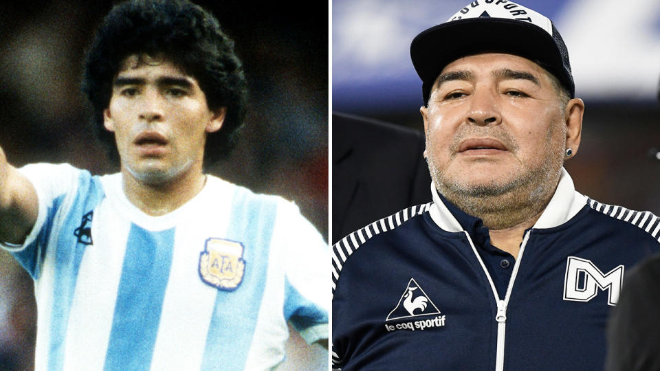 Diego Maradona, pictured here before his death in Argentina.