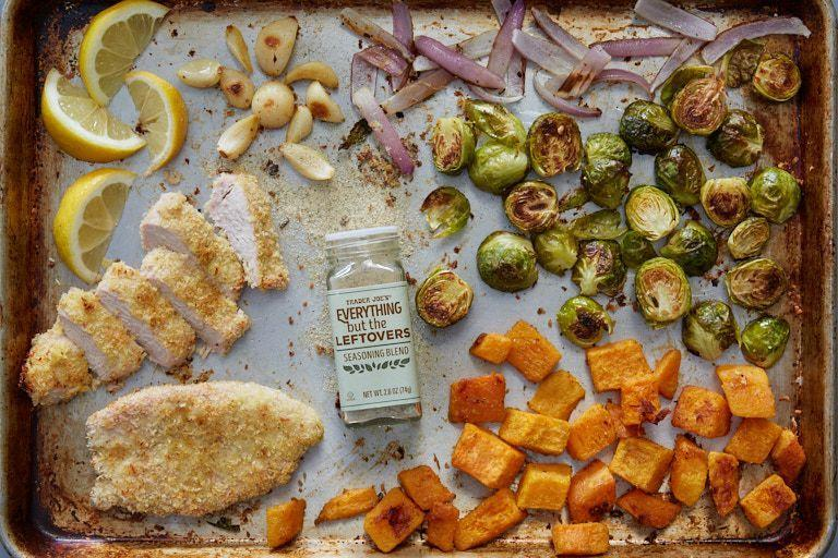 <p>TJ's is known for its seasoning blends and this one is basically the essence of Thanksgiving. Inside is a mix of spices like sage, rosemary, thyme, and parsley, so it goes on EVERYTHING. </p>