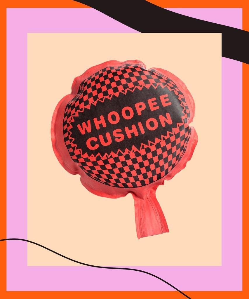Whoopee cushion with copy space