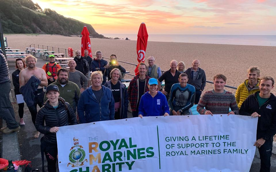 The Iron Man was in aid of the Royal Marines Charity