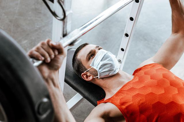 Masks are not recommended during exercise due to the risk of breathing difficulties. (Getty Images)