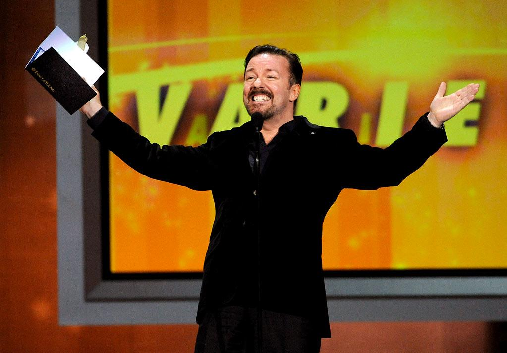 "<b>BEST: Ricky Gervais</b><br> Gervais is pretty much always a ""Best,"" and this year was no different. After rattling off the names of people he wasn't going to savagely mock, he paused for a moment on Mel Gibson, saying that the actor had been having a rough time — ""not as much as the Jews, though."" Huge laugh from the crowd, and from us. Also, when he pointed out that the director of the Winter Olympics opening ceremony was named ""Bucky Gunts,"" he started an immediate running joke and Twitter meme.<br><br>  <a href=""http://www.televisionwithoutpity.com/show/emmy_awards/emmy_awards_2010_best_and_wors.php?__source=tw