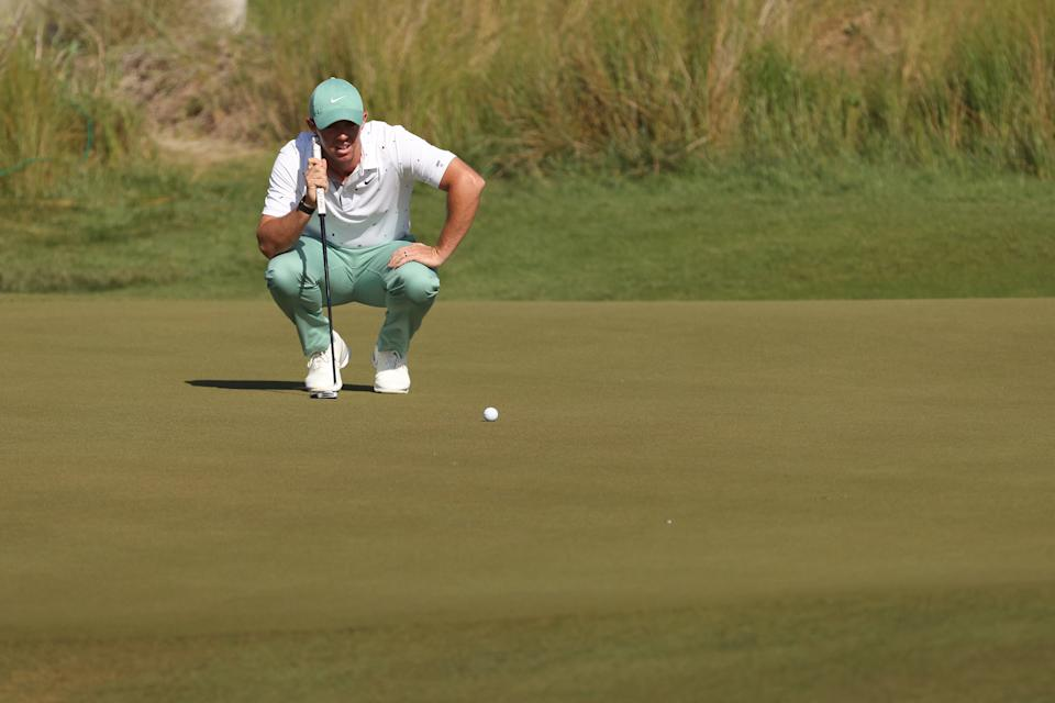 Rory McIlroy's got work to do to get back in this. (Jamie Squire/Getty Images)