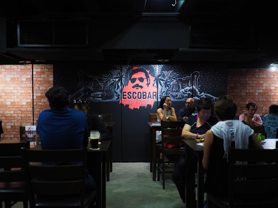 New bar at China Square Central in Singapore themed after Colombian drug lord Pablo Escobar