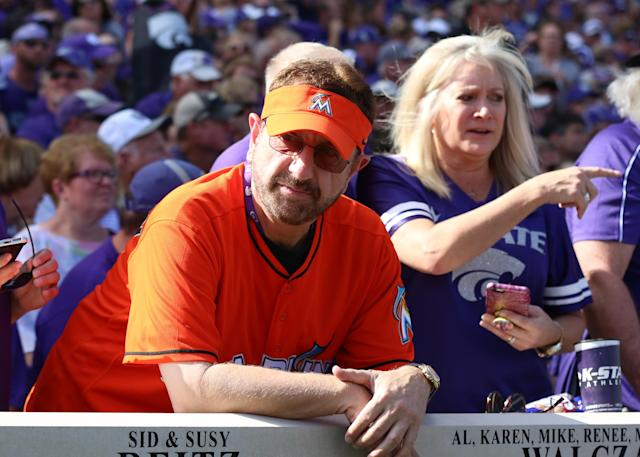 "Laurence Leavy — better known as the ""Marlins Man"" — was defrauded of nearly $1.5 million by his bookkeeper of nearly 17 years. (AP)"