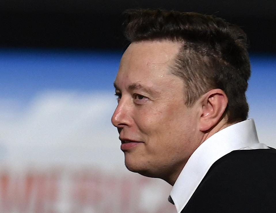 CAPE CANAVERAL, UNITED STATES - 2020/05/30: SpaceX founder Elon Musk looks on after being recognized by U.S. President Donald Trump at NASA's Vehicle Assembly Building after watching the successful launch of a Falcon 9 rocket with the Crew Dragon spacecraft from pad 39A at the Kennedy Space Center. NASA astronauts Doug Hurley and Bob Behnken will rendezvous and dock with the International Space Station, becoming the first people to launch into space from American soil since the end of the Space Shuttle program in 2011. (Photo by Paul Hennessy/SOPA Images/LightRocket via Getty Images)