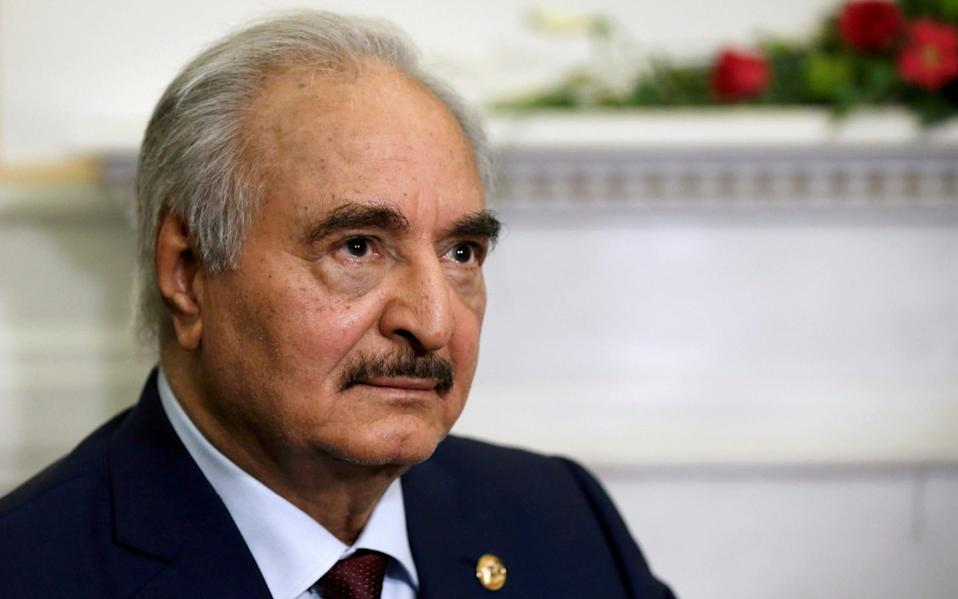 Libyan commander General Khalifa Haftar has been fighting the UN-backed government for control over Libya - Costas Baltas/Reuters