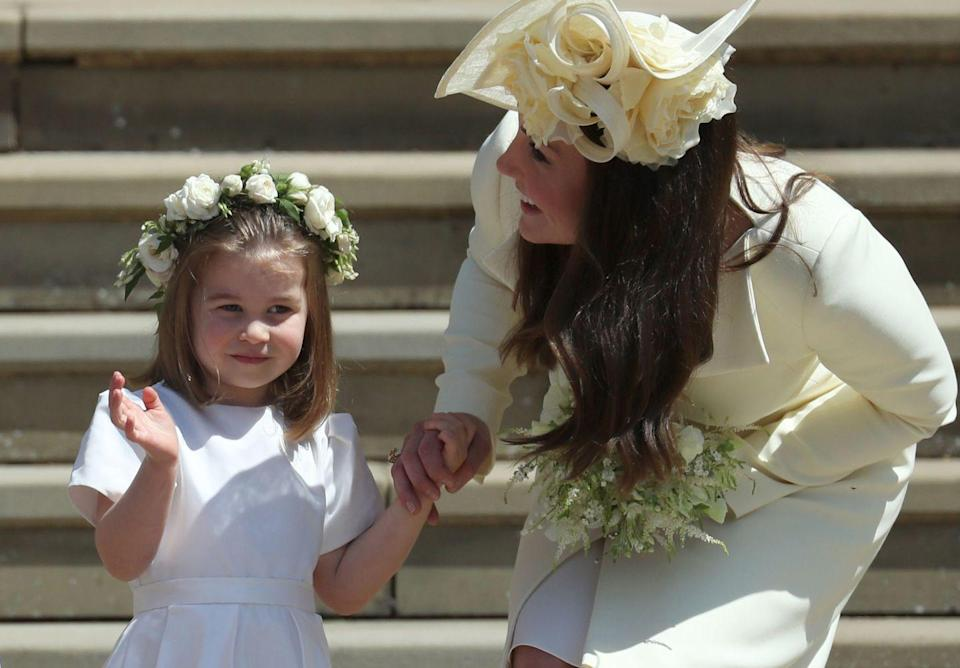 """<p>Yep, we know that's a snap of Kate Middleton with her daughter, Charlotte. Back in 2014, the Duchess of Cambridge attended a christening in St. Barnabas Church in Essex, fulfilling her role as godmother to one of her friend's children. While there are no details as to who her godchild *actually* is, we still bet she makes the most wonderful godmother anyway. </p><p><strong>Enjoy Cosmopolitan magazine delivered straight to your door every month with Free UK delivery. </strong></p><p><strong><a href=""""https://go.redirectingat.com?id=127X1599956&url=https%3A%2F%2Fwww.hearstmagazines.co.uk%2Fcosmopolitan-magazine-subscription-website&sref=https%3A%2F%2Fwww.cosmopolitan.com%2Fuk%2Freports%2Fg36966581%2Fprince-william-kate-middleton-godchildren%2F"""" rel=""""nofollow noopener"""" target=""""_blank"""" data-ylk=""""slk:Subscribe now"""" class=""""link rapid-noclick-resp"""">Subscribe now</a> to get instant digital access to the latest issue.</strong></p><p><strong><a href=""""https://hearst.emsecure.net/optiext/cr.aspx?ID=he35BCZBgDAgHND1KhoLH9t2jCrAjtImaP43tz3YgBsyn22fZAcoemlorMljZl4DLz0ez2n54GushJ"""" rel=""""nofollow noopener"""" target=""""_blank"""" data-ylk=""""slk:Sign up to our newsletter"""" class=""""link rapid-noclick-resp"""">Sign up to our newsletter</a> for more articles like this delivered straight to your inbox.</strong> </p>"""