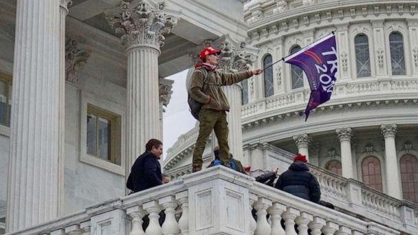 PHOTO: Pro-Trump protesters breached security at the Capitol and disrupt members of Congress convened to debate the certification of the election in Washington, Jan. 6, 2021. (Sam Sweeney/ABC News)