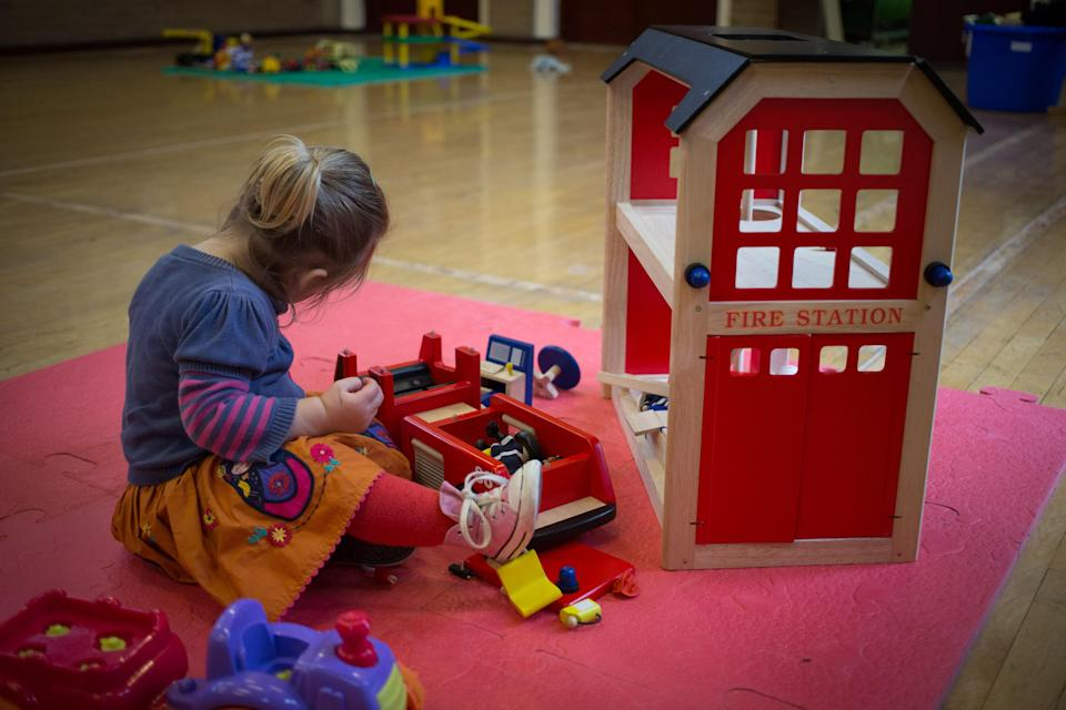 Putting children into nursery care can push families to the financial brink (Matt Cardy/Getty Images)