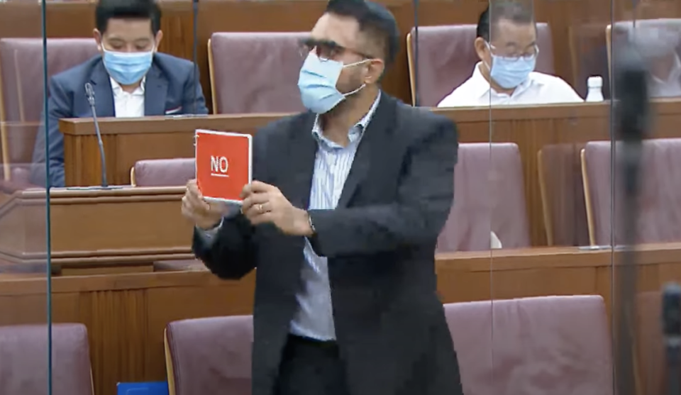 Leader of the Opposition Pritam Singh voting