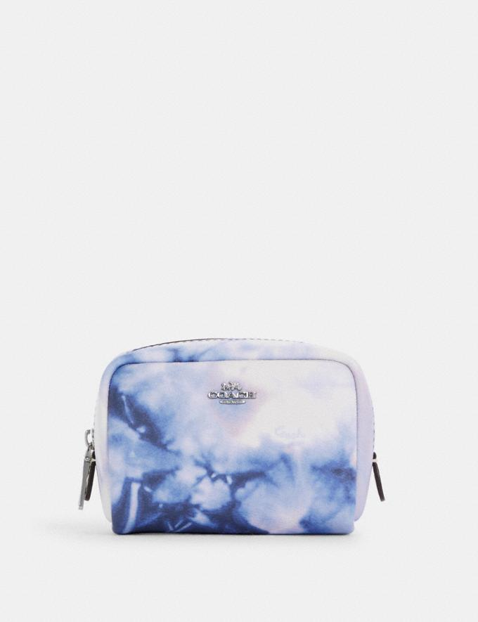 Mini Boxy Cosmetic Case With Tie Dye Print - Coach Outlet