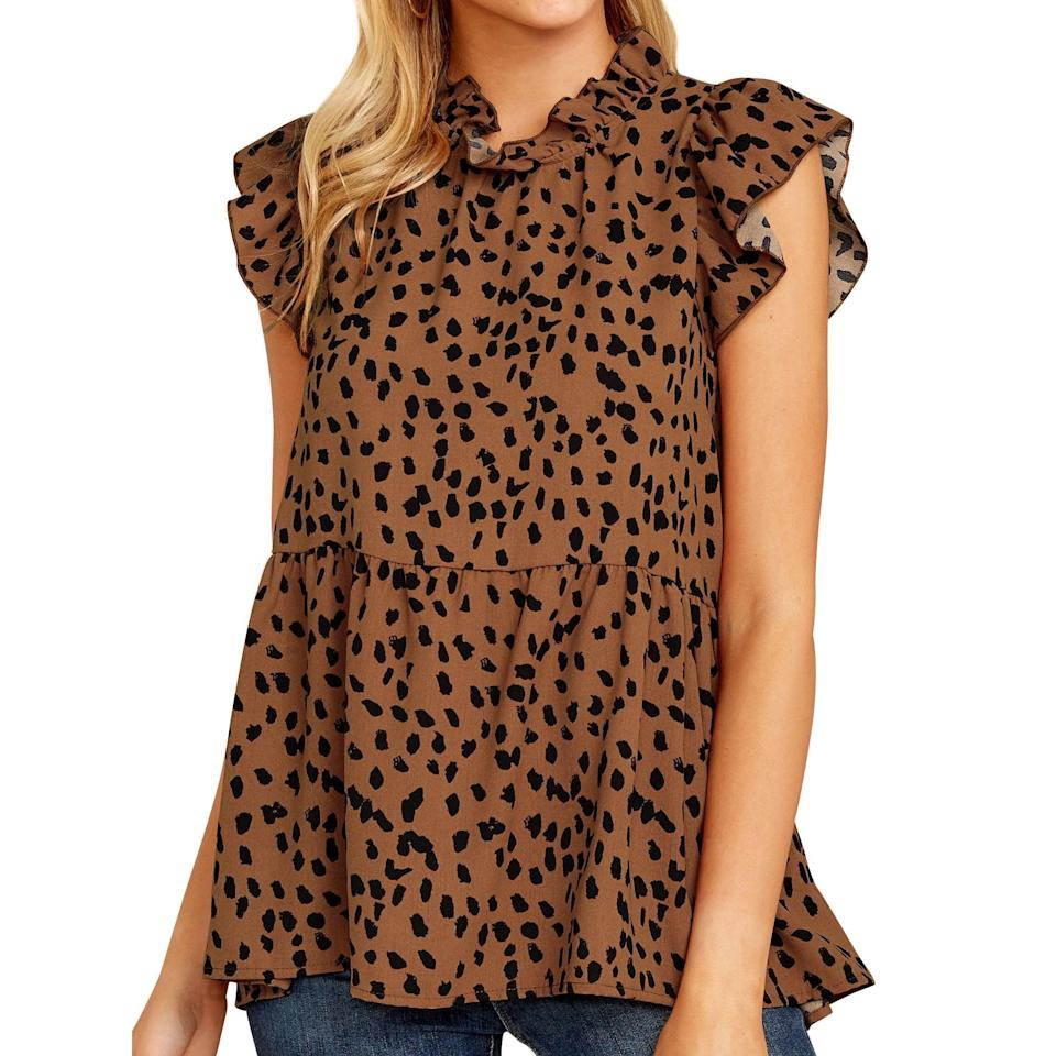 <p>Team this <span>Polka Dots Printed Pleated Shirt</span> ($17, originally $36) with a pair of dark-wash jeans and booties, and get ready to have everyone asking you where it's from.</p>