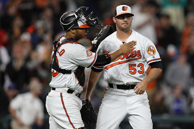 Buck Showalter knows how to use Zach Britton in April. (Getty)