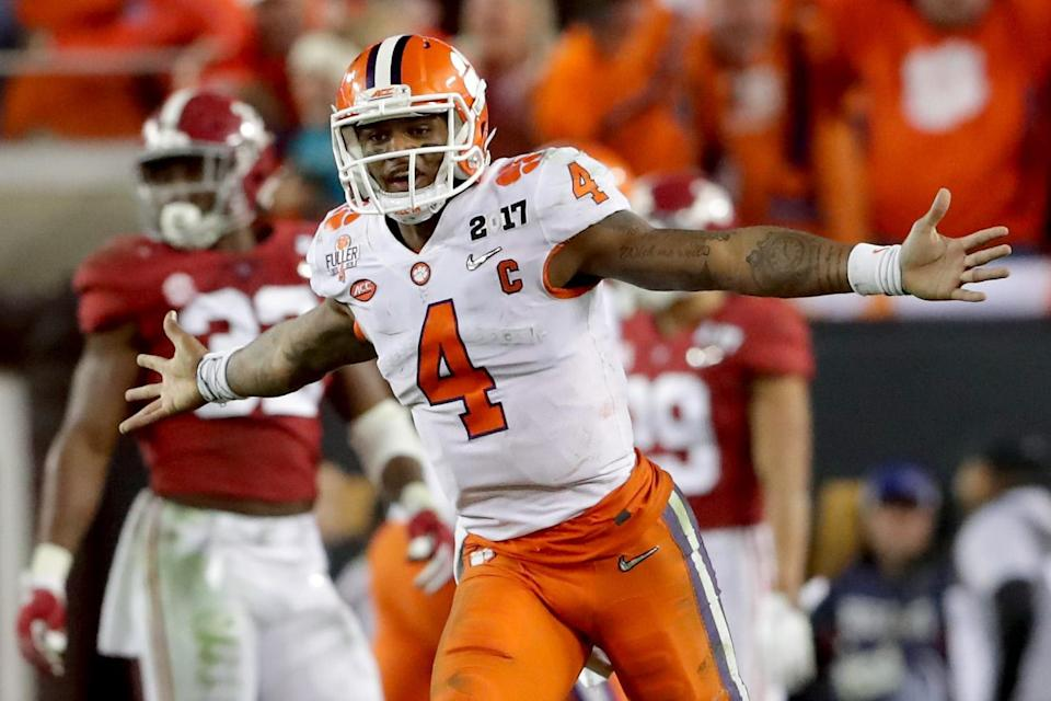 The NFL view of Clemson QB Deshaun Watson is stronger after the scouting combine. (Getty Images)