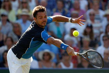 Tennis - WTA Premier & ATP 250 - Nature Valley International - Devonshire Park, Eastbourne, Britain - June 25, 2018 Switzerland's Stan Wawrinka in action during his first round match against Britain's Andy Murray Action Images via Reuters/Paul Childs