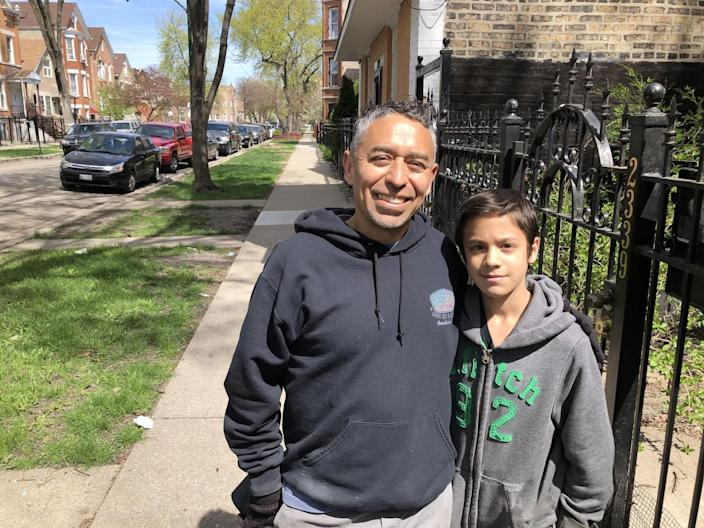The Rev. Paco Amador and son Daniel, 14