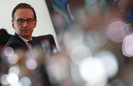 Justice Minister Heiko Maas attends a cabinet meeting in Berlin