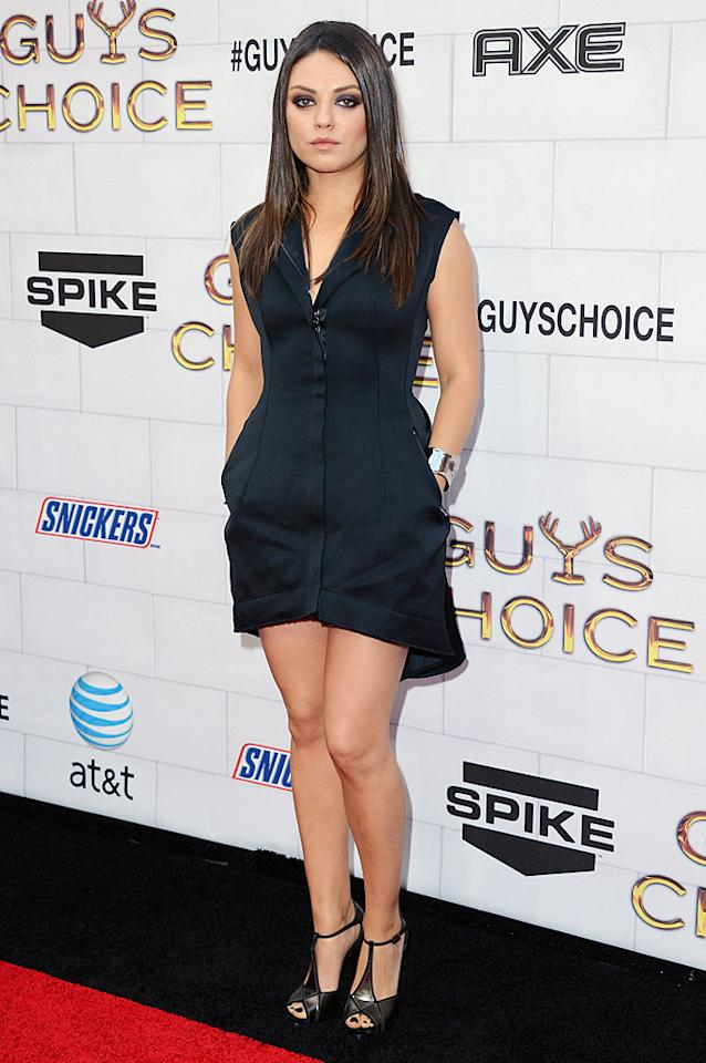 """It was a busy weekend of awards shows in Los Angeles! A day before the <a target=""""_blank"""" href=""""http://movies.yahoo.com/photos/2012-mtv-movie-awards-arrivals-slideshow/"""">2012 MTV Movie Awards</a> took place, Spike TV held their sixth annual Guys Choice Awards at Sony Pictures Studios in Culver City on June 2. Billed as the biggest boys' night of the year, there were a lot of women in attendance as well, including Mila Kunis, who was ending her reign as """"Holy Grail of Hot,"""" the title she won a year earlier. The show will air on June 9 at 9 p.m. ET/PT."""