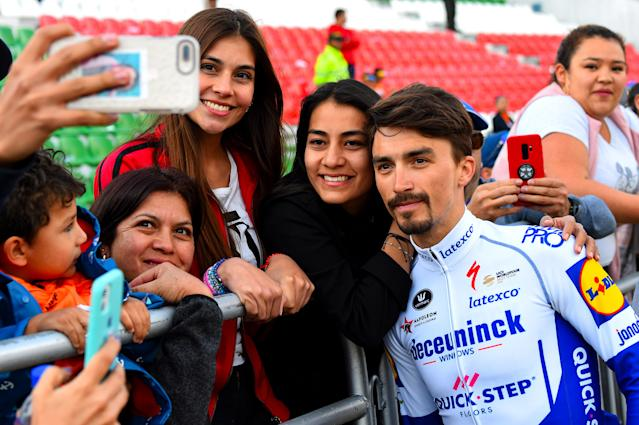 Julian Alaphilippe and friends