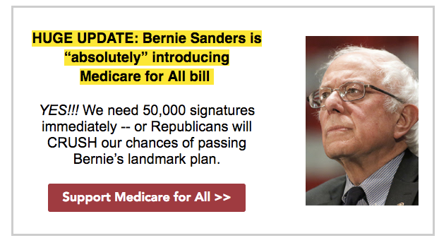 The Congressional Hispanic Caucus' Bold PAC has routinely invoked Sen. Bernie Sanders (I-Vt.) in fundraising emails focused on single-payer health care. (Bold PAC)