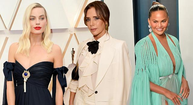 Victoria Beckham, Chrissy Teigen and Margot Robbie are among a whole host of celebrities who rely on face masks for flowing skin. (Getty Images)