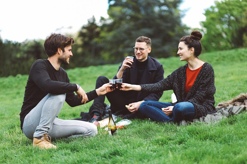 Brits plan on saving money post-lockdown by continuing park meet-ups. (Getty Images)