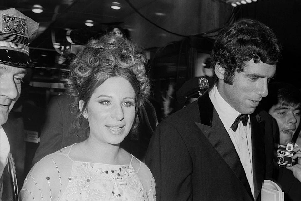 """<p>Elliott Gould was the leading man in a musical and was singing opposite actresses for a new play when Barbra Streisand walked in. Gould was immediately smitten and the <a href=""""http://www.closerweekly.com/posts/elliott-gould-barbra-streisand-marriage-101979"""" rel=""""nofollow noopener"""" target=""""_blank"""" data-ylk=""""slk:pair got married"""" class=""""link rapid-noclick-resp"""">pair got married</a> in 1963. They had a son named Jason, but their marriage dissolved in 1971. </p>"""