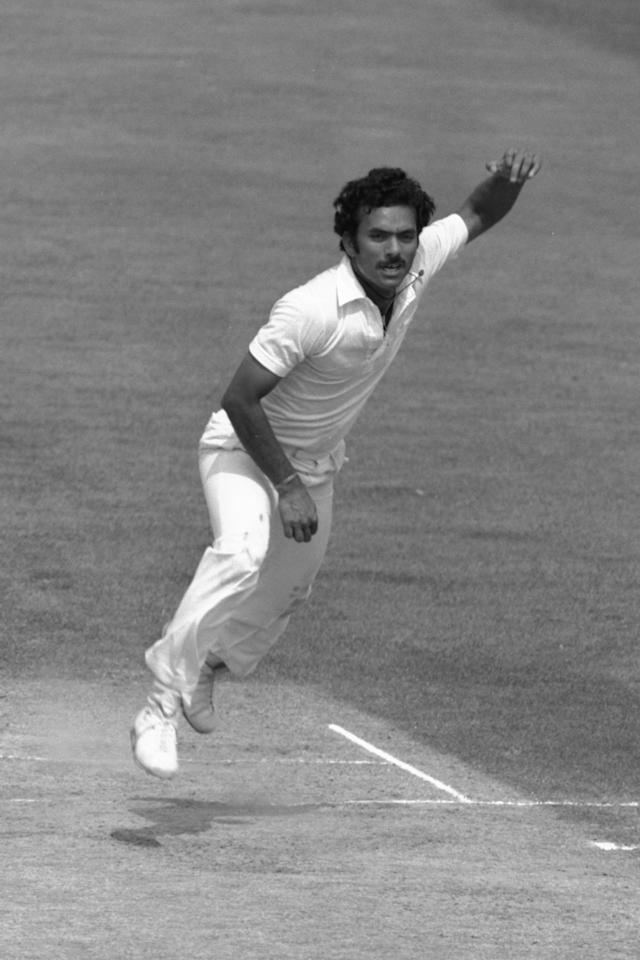 Jul 1982:  Madan Lal of India bowling during the third test against England at the Oval in London. Mandatory Credit: Adrian Murrell/Allsport