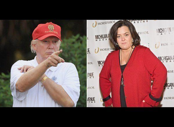 """There are many celebs who have feuded with Donald Trump, but his ongoing fight with Rosie O'Donnell remains the most memorable.     In 2006, Rosie criticized Trump for not dethroning Miss USA Tara Conner after her drug scandal and she called him a """"pimp"""" and """"snake oil salesman.""""      Never one to take things lying down, Trump responded by calling her a """"big, fat pig"""" and a """"loser.""""     Their feud dragged on until no one wanted to hear what either of them had to say and it unfortunately started up again. <a href=""""http://www.accesshollywood.com/donald-trump-and-rosie-odonnell-feud-reignited_article_57986"""" target=""""_hplink"""">In December 2011, Trump tweeted</a>, """"Same last name, same bad ratings - @lawrence and @rosie,"""" and linked to a YouTube clip of himself ranting about how neither of their talk shows were doing well.     Rosie tweeted back, """"How many billionaires sell ties and have crappy non reality shows -- none - go back to selling snake oil #bankruptmuch?""""     Neither will spare the public of their immaturity and their feud continues today."""
