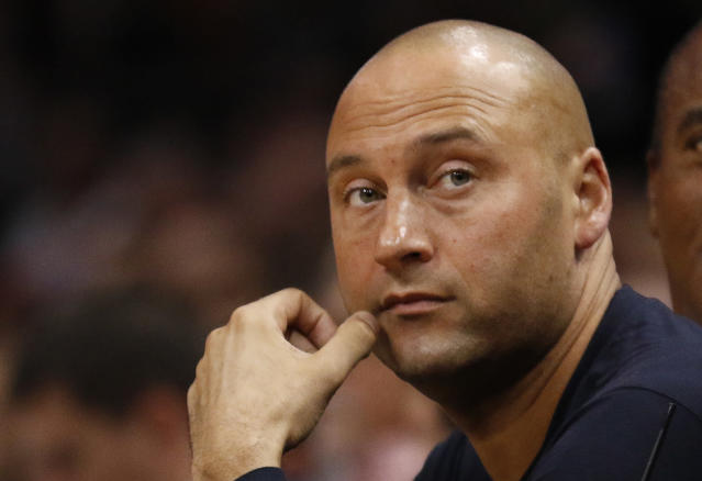 Can Derek Jeter give Marlins fans a reason for optimism in 2018. (AP Photo)