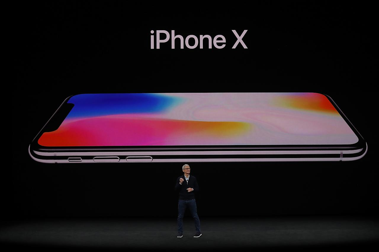<p>Apple's biggest announcement was the iPhone X, a bezel-free phone with some unique features. (Photo by Justin Sullivan/Getty Images) </p>