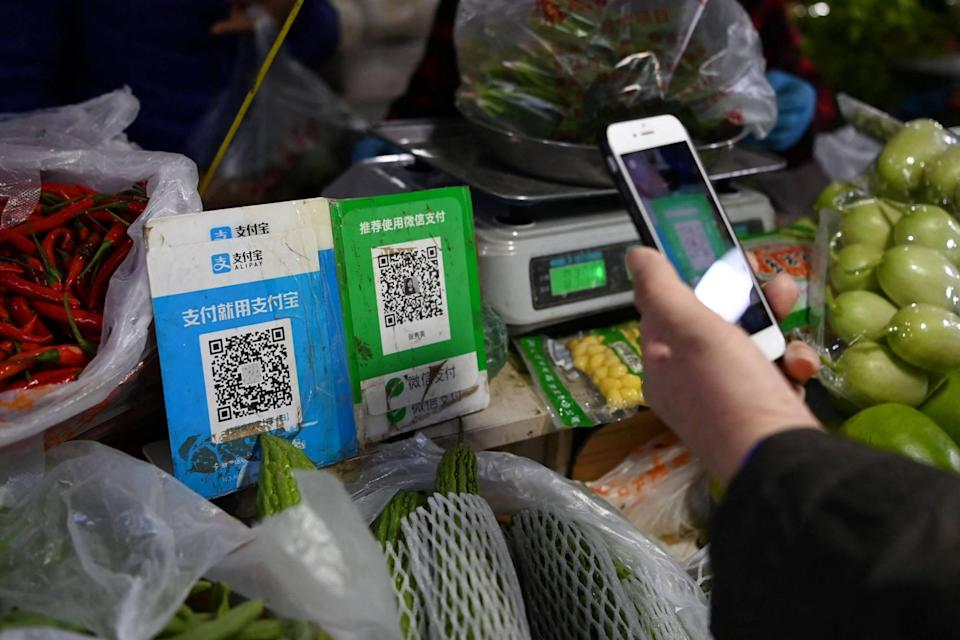 Tencent's WeChat is one of China's two largest mobile payment apps, along with Alipay from competitor Ant Group. Photo: AFP